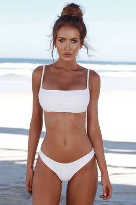 Angelsin - Angelsin Beyaz Bikini Alt-MS4741