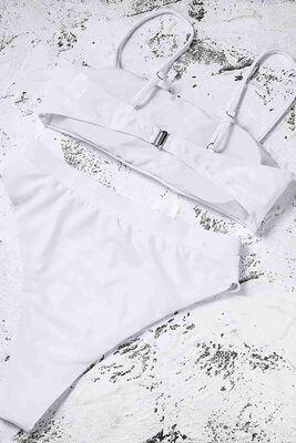 Angelsin Beyaz Bikini Üst -MS41128 - Thumbnail