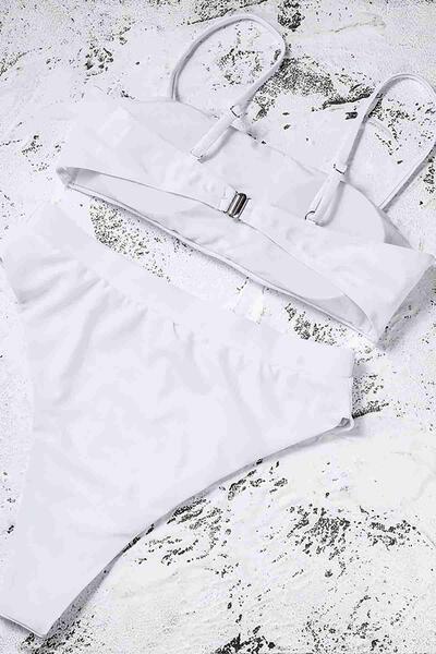 Angelsin Beyaz Bikini Üst -MS41128