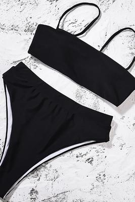 Angelsin Siyah Bikini Üst - MS41128 - Thumbnail