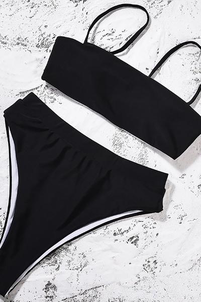Angelsin Siyah Bikini Üst - MS41128