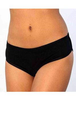 Angelsin El Baskılı Bikini Alt Siyah MS7631 - Thumbnail