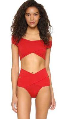 Angelsin - Angelsin Kırmızı Özel Tasarım Bikini Üst - MS46222-2