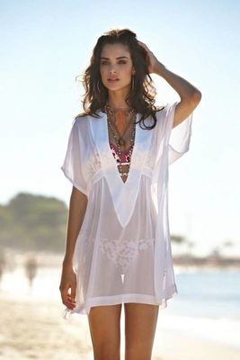 Angelsin - Angelsin Şık Beyaz Pareo - MS4283