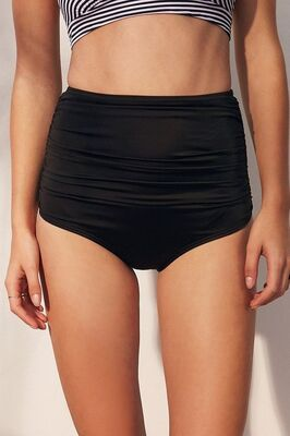 Angelsin Siyah Yüksek Bel Bikini Alt-MS4285 - Thumbnail