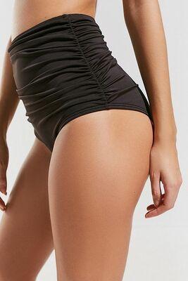 Angelsin Siyah Yüksek Bel Bikini Takım-MS4284 - Thumbnail