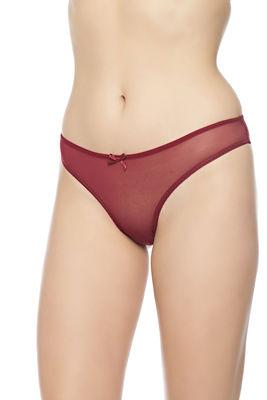 Merry Secrets - Arkası Dekolteli Dantel Detaylı Şifon Bikini Külot 4951