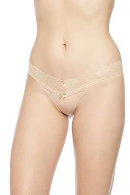 Merry Secrets - Beli Dantelli Lazer Kesim Bikini Külot 4324