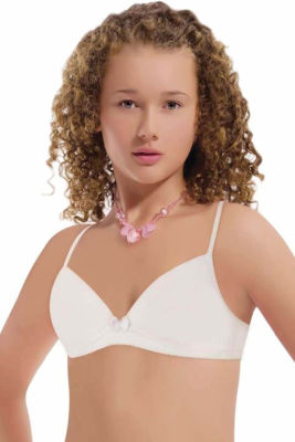 Nbb - Beyaz Genç Kız Desteksiz Sütyen 1123