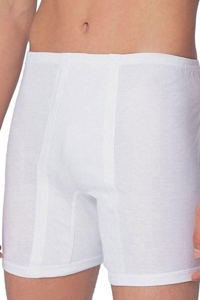 Beyaz Klasik Pamuklu Boxer 0017 - Thumbnail