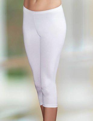 Şahinler - Beyaz Pamuklu Kapri Tayt MB882