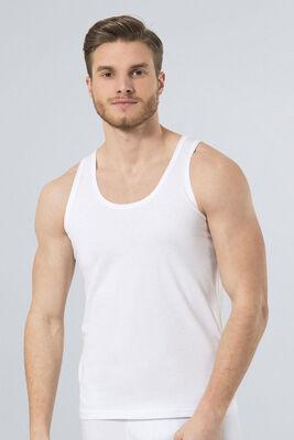 Türen - Beyaz Penye Klasik Atlet 2'li Paket 108