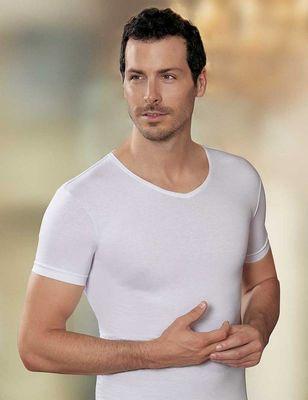 Şahinler - Beyaz V Yaka Kısa Kollu Süprem T-Shirt ME072