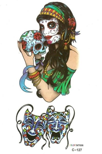 By Yuksel Ozkan - Çingene Kız Geçici Dövme -Tattoo C-127
