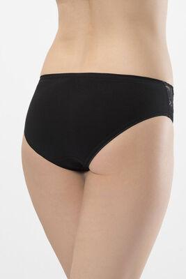 Dantel Şeritli Likralı Bikini Külot 2'li Paket 262 - Thumbnail