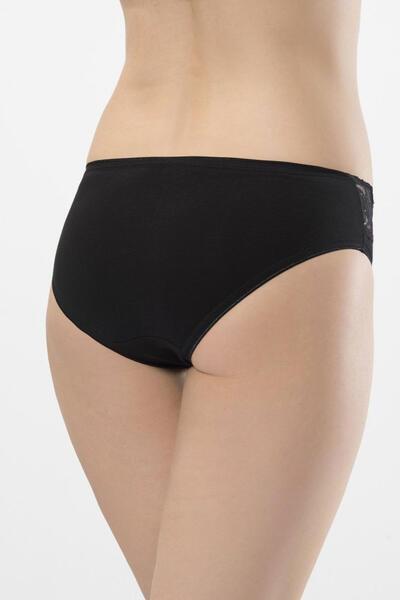 Dantel Şeritli Likralı Bikini Külot 2'li Paket 262