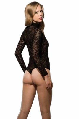 Doreanse Çıtçıtlı Dantelli Seksi Body 12430 - Thumbnail
