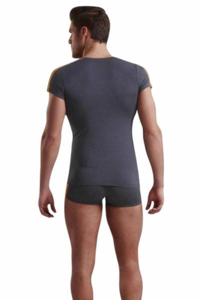 Doreanse Atletik Gösteren Kısa Kollu Likralı Erkek T-Shirt 2544