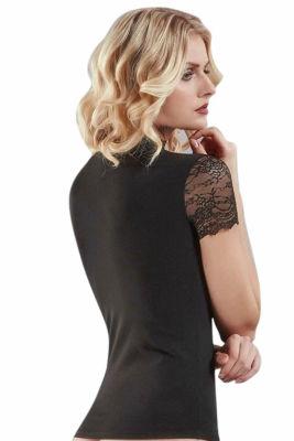Doreanse - Doreanse Dantelli Bayan T-Shirt 9363