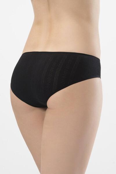 Düşük Bel Jakarlı Bikini Külot 2'li Paket 256