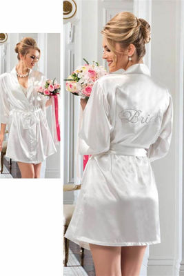 Nbb - Ekru Sırtı Bride İşlemeli Gelin Sabahlık 3232