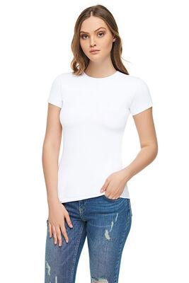 Elit Tutku - Kadın Elastan Yarım Kol T-Shirt ELT2202