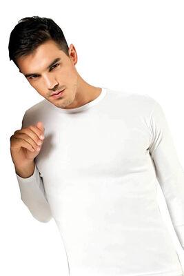 Elit Tutku - Erkek Elastan Sıfır Yaka Uzun Kollu T-Shirt ELT1302