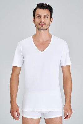 Kom - Enrico V Yaka 2'li Erkek T-Shirt