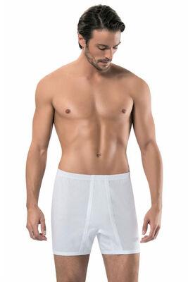 Seher Yıldızı - Erkek Büyük Beden Beyaz Arjantin Boxer 12'li Ekonomik Paket SY0006