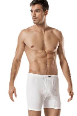Tutku - Erkek Büyük Beden Beyaz Ribana Arjantin Boxer 6'lı Ekonomik Paket 0111