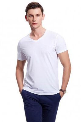 Seher Yıldızı - Erkek Ribana V Yaka T-Shirt 6'lı Ekonomik Paket SY0061