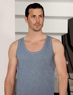 Şahinler - Gri Kalın Askılı U Yaka Modal Erkek Atlet ME132