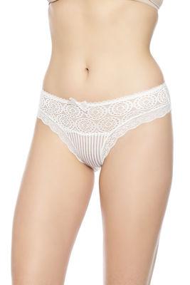 Merry Secrets - Güpür Detaylı Transparan Çizgili Bikini Külot 4330