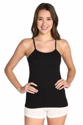 Tutku - Kadın Büyük Beden Renkli Ribana İp Askılı Atlet 6'lı Ekonomik Paket 0135