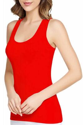 Kadın Renkli Ribana Geniş Askılı Atlet 6'lı Ekonomik Paket 0136 - Thumbnail