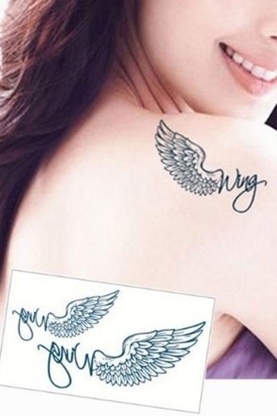 By Yuksel Ozkan - Kanat Geçici Dövme -Tattoo 186