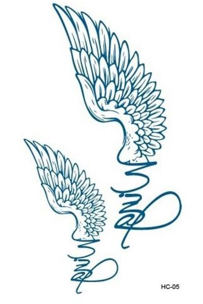 Kanat Geçici Dövme -Tattoo 186 - Thumbnail