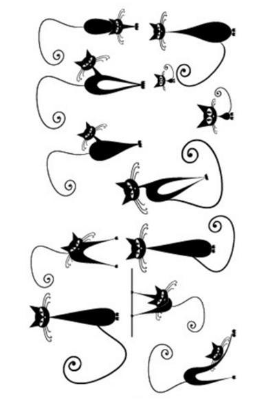 By Yuksel Ozkan - Kara Kedi Geçici Dövme -Tattoo 167