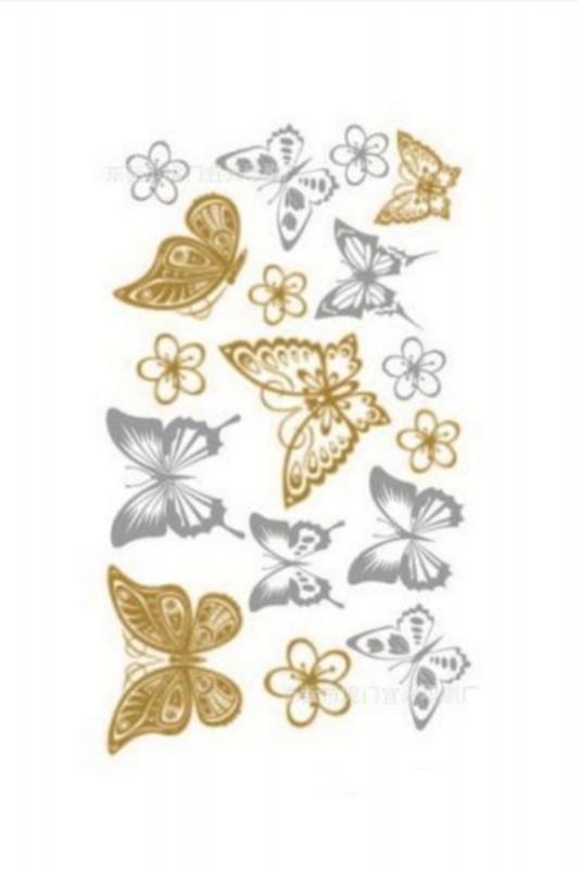 Kelebek Geçici Dövme -Tattoo 003