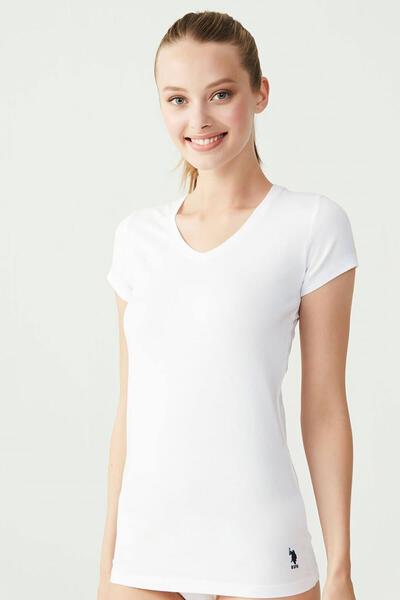 Kısa Kollu V Yaka Basic Tişört 66004