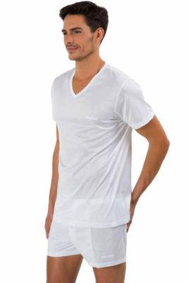 Kom Elite İnce Kumaş V Yaka T-Shirt - Thumbnail