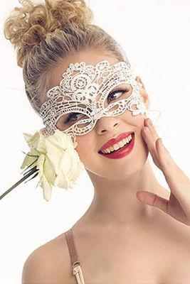 Merry See - Merry See Beyaz Dantel Göz Maskesi - MS0349-1