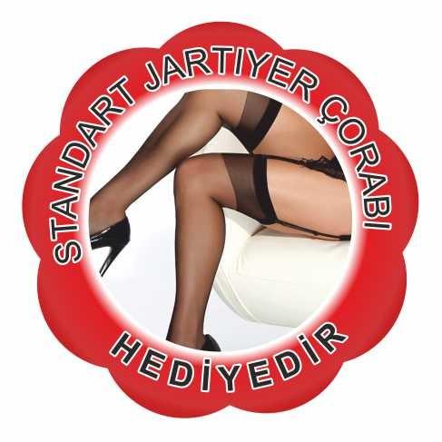 Merry See Jartiyerli Babydoll iç giyim + Çorap Hediyeli - MS2665