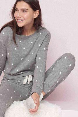 Merry See - Merry See Kalpli Pijama Takım Gri - MS4039