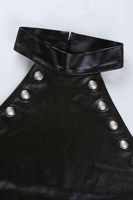 Merry See Parlak Görünümlü Fantezi İç giyim Body Siyah MS9204 - Thumbnail
