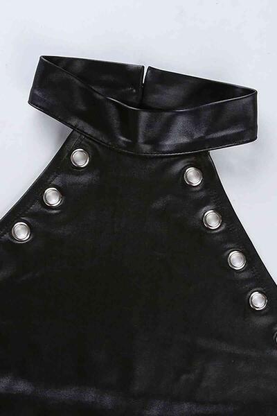 Merry See Parlak Görünümlü Fantezi İç giyim Body Siyah MS9204