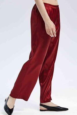 Merry See - Merry See Saten Pijama Takım Kırmızı MS2335