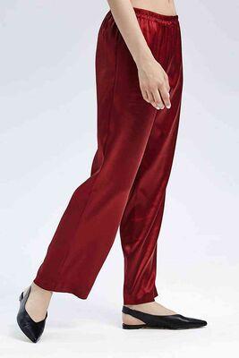 Merry See - Merry See Saten Pjama Alt Kırmızı MS3241