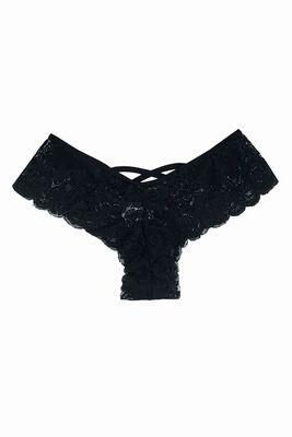 Merry See Seksi Dantel Külot Siyah - MS7674 - Thumbnail