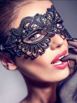 Merry See - Merry See Şık Dantel Göz Maskesi - MS0365